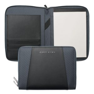 Папка Hugo Boss Keystone Black, А5, экокожа, на молнии